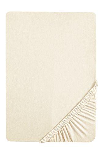 biberna 12344 Frottee-Stretch Spannbetttuch, ca. 90 x 190 cm bis 100 x 200 cm, nach Öko-Tex Standard 100, natur