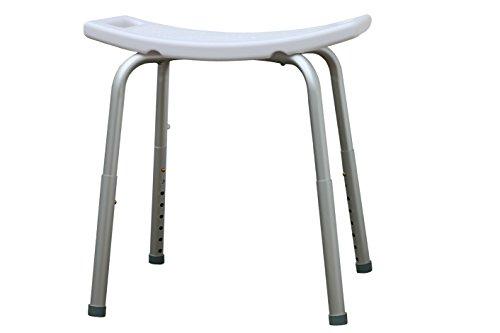 Duschhocker - Badhocker - Duschhilfe - Duschsitz - Tritthocker - Höhenverstellbar, Rutschfest, Stabil, Maximale Belastbarkeit 150 kg