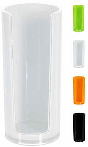 Spirella Wattepadspender Wattepadhalter Acryl 'Sydney' Make-Up Kosmetikorganizer 16,5 x 7 cm Weiß