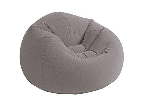 Intex 68579NP Beanless Bag Chair phthalates-free, grau, 107 x 104 x 69 cm