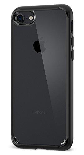 iPhone 7 Hülle, iPhone 8 Hülle, Spigen [Ultra Hybrid 2] Verstärkter Kamera- und Buttonschutz [Schwarz] Zweite Generation des Ultra Hybrids Einteilige Transparent Handyhülle Durchsichtige PC Rückschale mit Silikon TPU Bumper Schutzhülle für Apple iPhone 7 / iPhone 8 Case Cover - Black (042CS20926)