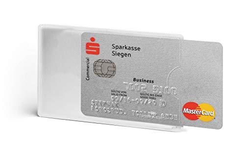 Durable 890319 Kreditkartenhülle (mit Rfid Schutz, Rfid Blocking, Beutel à3 Kartenhüllen) transparent