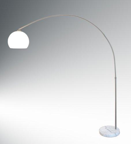 Bogenleuchte mit weißem Lampenschirm, langer Lampenbogen, Lilli XL 10452