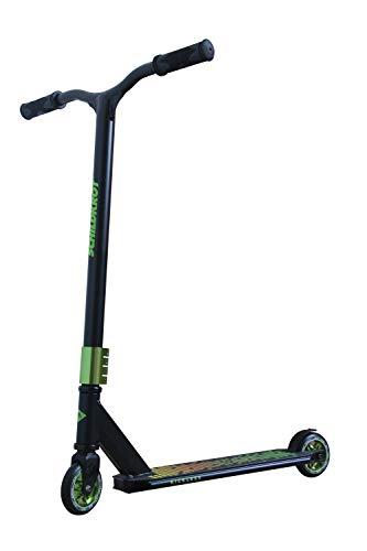 Schildkröt Stunt Scooter Kickless, Design: Forest, toller Stuntscooter mit HIC-Compression und Alu-Felge, 100 mm PU Räder, für ambitionierte Stunts und Tricks, 510432