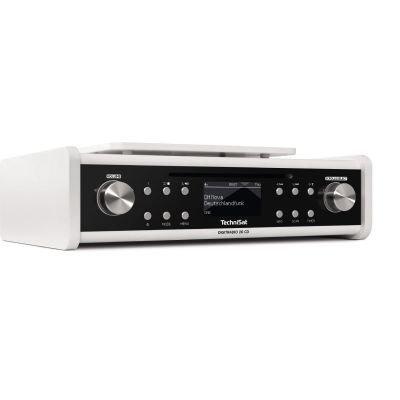 TechniSat Digitradio 20 CD Küchenradio (DAB+, Unterbau-Radio, CD Player, Timer, Kopfhörerausgang, Aux-in) Weiß
