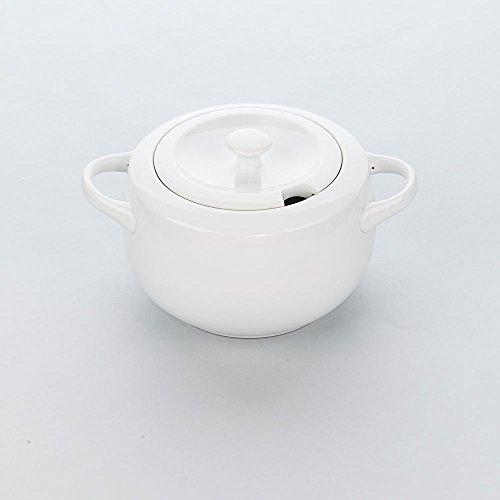 Serie Apulia A Suppenterrine Terrine mit Deckel + Löffelausschnitt 3,3 Liter Hotelporzellan weiß für Mikrowellengeräte geeignet spülmaschinenfest