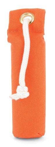 SportDOG Canvas Dummy orange, zum Apportieren, Trainingsdummy, Jagd Attrappe zum Apportiertraining, mit Wurfgriff, robust