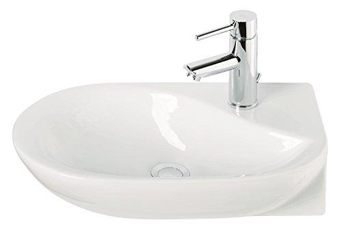Handwaschbecken droPino | 50 cm | Weiß | Waschtisch | Gäste-WC