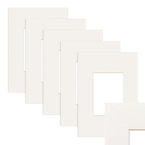 5x Passepartout Weiß 30x40 cm (20x30 cm)
