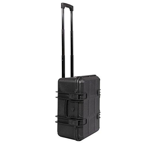Wasserdichter Transport-Koffer Universal-Trolley für Foto & Video (50x38x25 cm)