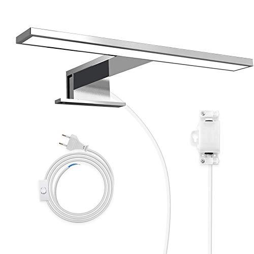 Hommie LED Spiegelleuchte 30cm, IP44 Wasserdichte Badlampe für Badzimmer und Spiegelschrank, Energiesparende Schrankleuchte 5W, 4000K Neutralweiß
