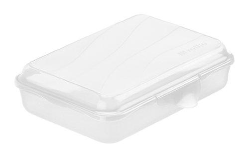 Rotho 1710800096 Funbox Vesperdose Brotbox, BPA und schadstofffrei, hergestellt in der Schweiz, circa 16 x 11 x 4 cm (LxBxH), transparent
