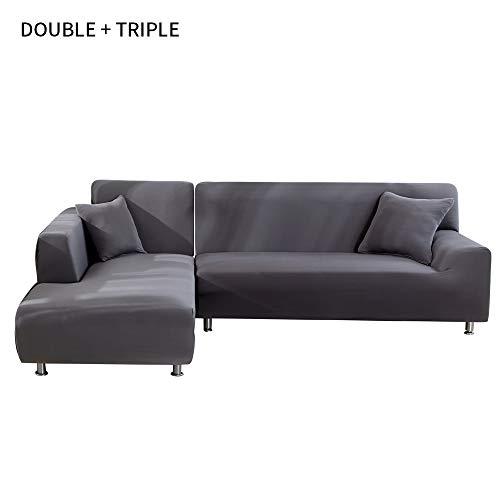 NIBESSER Sofabezug Sofaüberwürfe für L-Form Sofa elastische Stretch Sofabezug