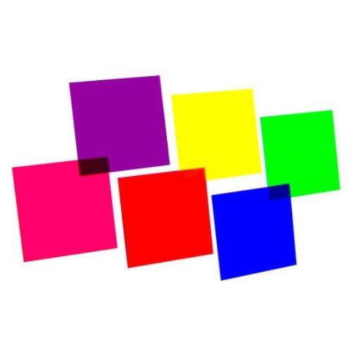 Farbfolienset 24x24cm PAR-64 sechs Farben