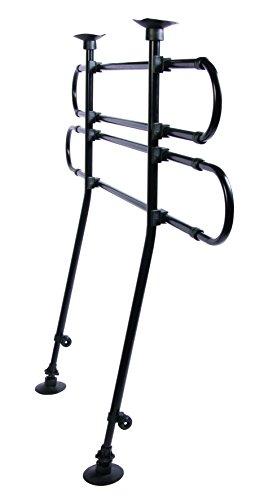 Trixie 1316 Auto-Schutzgitter, gewinkelt, B/H: 85-140/75-110 cm, schwarz