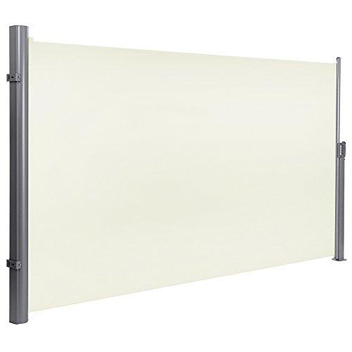 MCTECH Seitenmarkise zertifiziert Sonnenschutz Sichtschutz Windschutz Terrasse Markise Polyester (1.6*3m, Anthrazit)