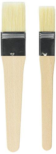 KAISER Backpinsel-Set 2-teilig Backpinsel Naturborsten 1' und 1,5' 20,5 cm Pâtisserie flexible Naturborsten 2 Pinselbreiten sichere Borsten-Metallfixierung