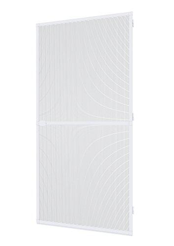 Windhager Insektenschutz Spannrahmen-Tür Fliegengitter Alurahmen für Türen, individuell kürzbar, 100 x 210 cm, Weiß