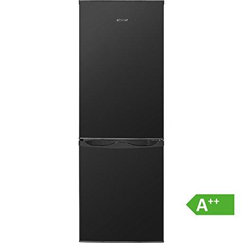 Bomann KG 320.1 Kühl-Gefrier-Kombination (Gefrierteil unten) / A++ / 143 cm / 160 kWh/Jahr / 122 L Kühlteil / 43 Gefrierteil / 165 L/Schwarz