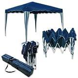 Jawoll Falt-Pavillon »Easy-Up« 3x3m blau-weiß Klapp-Pavillon Gartenpavillon Scherenpavillon