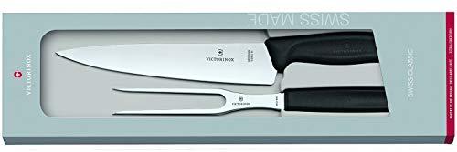 Victorinox Swiss Classic 2-tlg. Tranchiermesser-Set, Tranchiermesser, Fleisch- und Bratengabel, Spülmaschinengeeignet,
