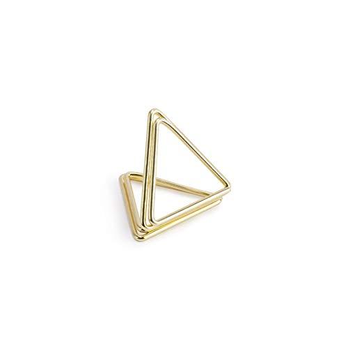 Tischkartenhalter Dreieck 2,3 cm 10 Stück gold Platzhalter Tischkarten Gastgeschenk