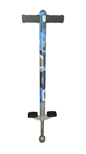 Think Gizmos Pogo Stick für Kinder - Aero Advantage - Garten Spielzeug Kinder von 5 bis 10 Jah-Ren und bis zu 36kg - Outdoor Spielzeug für Jungen und Mädchen - Spaß garantiert (Blau & Schwarz)