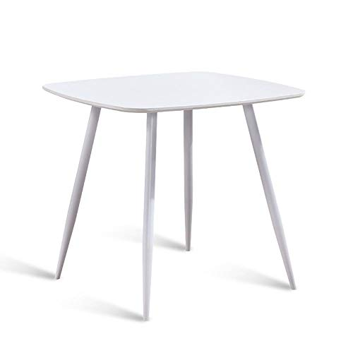 BinLZ-Table Freizeittisch Wohnzimmer Quadratischer Tisch Esstisch Computer Einfacher Empfang Verhandlungstisch Teestube Kleiner Quadratischer Tisch Besprechungstisch Optionale Farbe, Weiß
