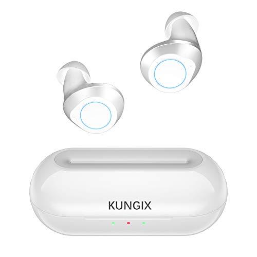 Bluetooth Kopfhörer in Ear, KUNGIX Bluetooth 5.0 True Wireless Kabellos Noise Cancelling Mini Earbuds Inear HiFi-Klangqualität Ohrhörer Sportkopfhörer Headset für Android iPhone mit Mikrofon