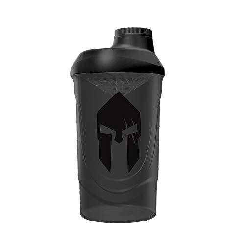 Gods Rage Shaker Wave Shaker Proteinshaker Eiweiß Protein Shaker 600ml Fassungsvermögen (Spartan Black Smoke)
