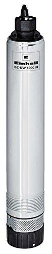 Einhell Tiefbrunnenpumpe GC-DW 1000 N (1000 W, 6500 L/h, 19 m Eintauchtiefe, 45 m Förderhöhe, Edelstahlgehäuse, inkl. 22 m Ablassseil)