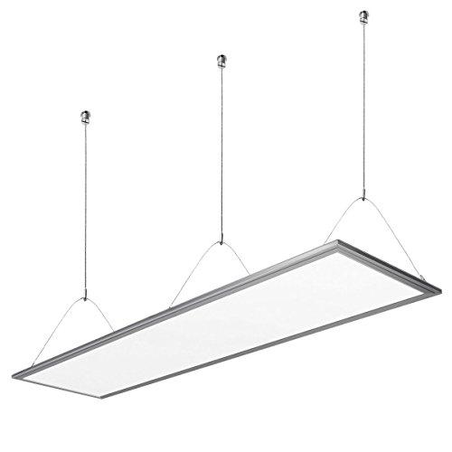 Lighting EVER LE 36W LED Panel ersetzt 80W Leuchtstoffröhre, 2700lm 295 x 1195mm, LED Panelleuchte mit Befestigungsmaterial und Trafo Panellampen, LED Deckenleuchte, Pendelleuchten Warmweiß
