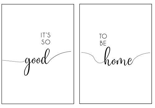 Viele Verschiedene Epictures Premium Poster Set´s mit Sprüchen für Küche, Motivations Texte und lustige Sprüche für Büro, Wohnzimmer oder Schlafzimmer Deko (Good Home, A4)