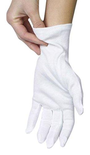Baumwollhandschuhe weiß Größe L, 12 Paar