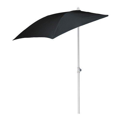 IKEA Wand-Sonnenschirm 'Flisö' Balkon-Standsonnenschirm 160x100cm Fläche - mit 95% UV-Schutz - höhenverstellbar 145 bis 250cm