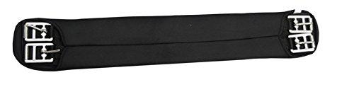 AMKA Sattelgurt Neopren Kurzgurt Dressurgurt schwarz | Bauchgurt für Pferde Sattel