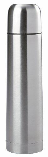 Mack Thermosflasche mit Druckverschluss 0,5L Edelstahl-Isolierflasche mit Becher im Deckel 500ml Thermoskanne 1L