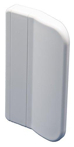 Balkontürgriff '911' eckige Ausführung für den Außenbereich inkl. 2 Montageschrauben, verschiedene Farben, 70x45x13 mm (Weiß - RAL 9016)