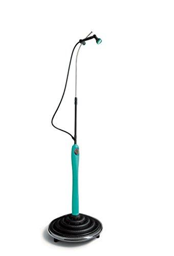G.F. GF80005526 Solardusche SUNNY STYLE PREMIUM | Integrierter Mischhebel | Höhe 1,40-2,10m | bis zu 60L (bei 30°C) | Überdruckventil | mit Anschlussgarnitur | kompatibel zum Stecksystem des Marktführers | Aquamarin