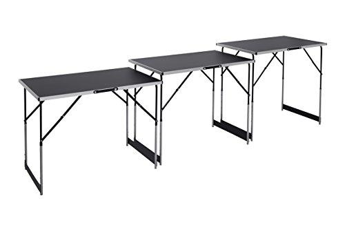 'Meister Multifunktionstisch 3-teilig  30 kg Tragkraft je Tisch (100 x 60 cm)  4-fach höhenverstellbar  Klappfunktion | Tapeziertisch | Buffettisch | Flohmarkttisch | Beistelltisch | 4357760    '