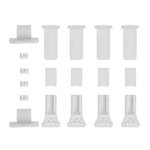 Lichtblick PKV.01.SB Klemmträger und Zubehör Montage-Set für Klemmfix Plissee PKV -