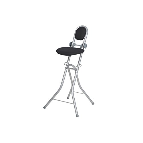 Stehhilfe Bügelstehhilfe Stehstuhl 6-fach höhenverstellbar klappbar Bügelstuhl Stehsitz ergonomisches Sitzen - Stehsitz zum Bügeln mit Rückenlehne