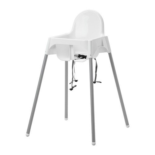 IKEA ANTILOP–Hochstuhl mit Sicherheitsgurt–90cm