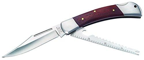 Herbertz Anglermesser, Aisi 420, mit Fischschupper Messer, Grau, M