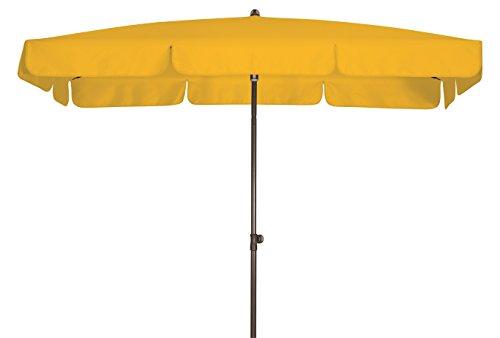 Absolut wasserdichter Gartenschirm Waterproof 185x120 von Doppler mit UV-Schutz 80, Farbe gelb