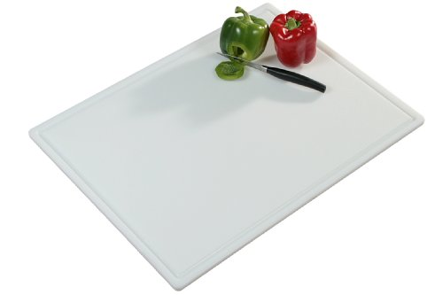 Kesper 30061 Tranchierbrett Kunststoff 61 x 45 x 1.2 cm, weiß