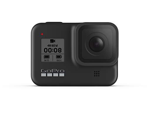 GoPro HERO8 Black - wasserdichte 4K-Digitalkamera mit Hypersmooth-Stabilisierung, Touchscreen und Sprachsteuerung - Live-HD-Streaming