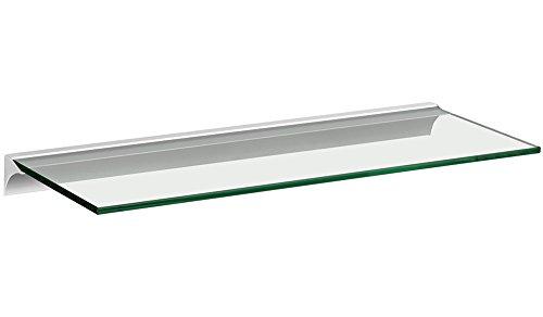Glasregal / Wandregal Square+Rail   5 Größen   4 Dekore   60x20cm - klar/silber