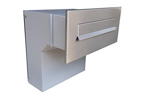 F-04 Edelstahl Mauerdurchwurf Briefkastenanlage (variable Tiefe) ohne Namensschild - Letterbox24.de