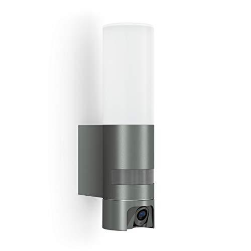 Steinel L 600 Cam Kameraleuchte: Außenleuchte, Gegensprechanlage, Überwachungskamera, Infrarot-Bewegungsmelder, Aluminium, 14.3 W, Anthrazit